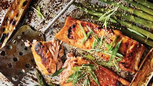 Make This Miso-Glazed Baked Salmon and Eggplant Dinner For Two