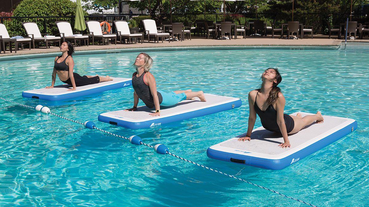 Best Fitness Studios, on water doing yoga
