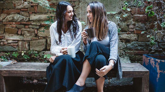Happy People, two women talking