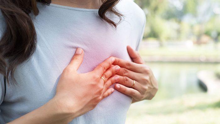 Heart Disease, woman having heart troubles