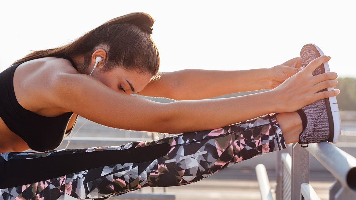 Improve Flexibility, woman stretching