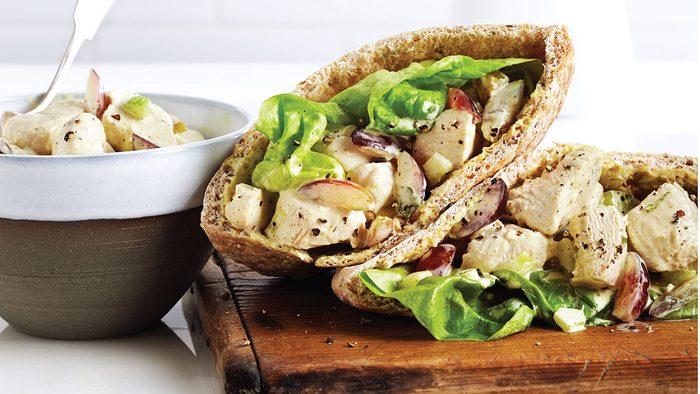 Pita Sandwich | Curried Chicken and Grape