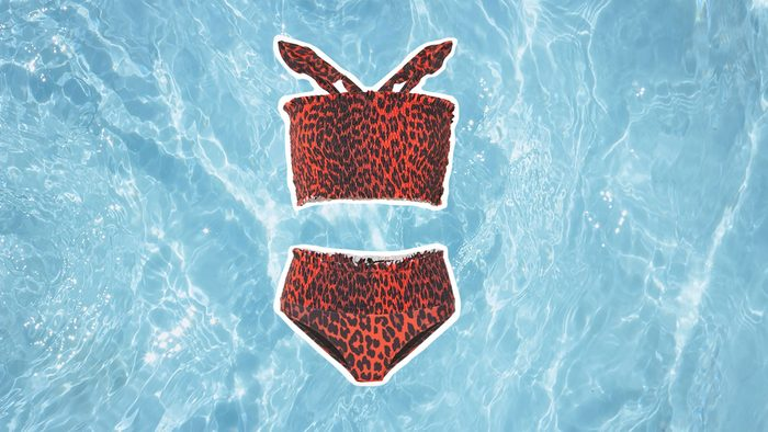 Swimwear for Body Shapes, red swimsuit
