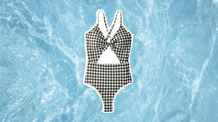 Swimwear for Body Shapes, back and white bathingsuit
