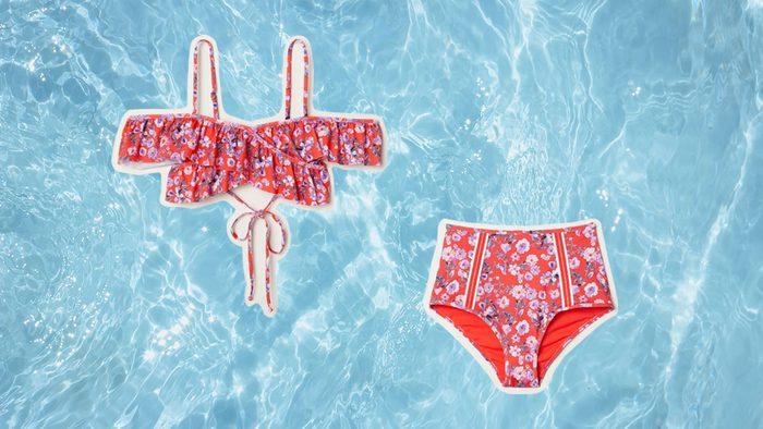 Swimwear for Body Shapes, flower bikini