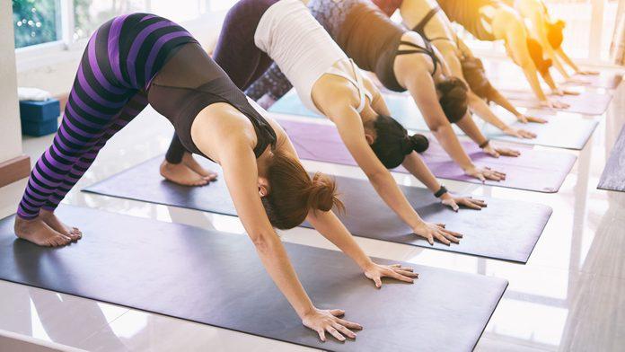fitness myths yoga class