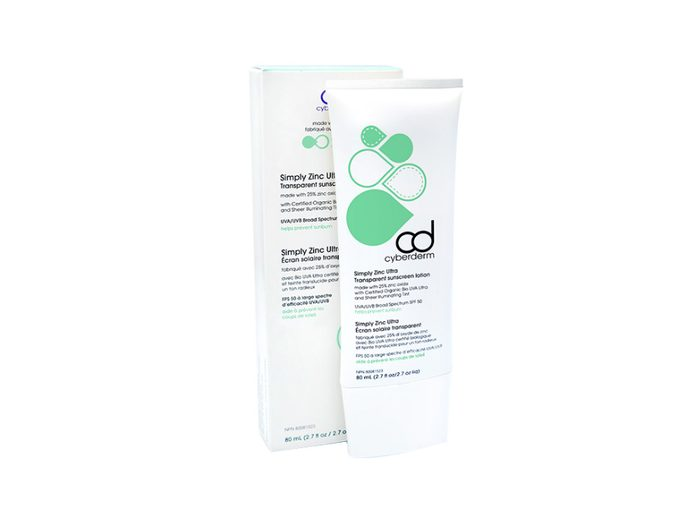 Cyberderm mineral sunscreen with zinc oxide