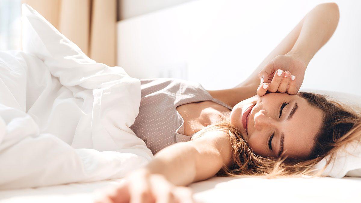 Fibromyalgia Treatment, woman in bed
