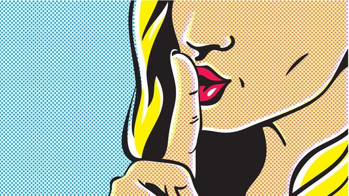 lying woman secrets pop art