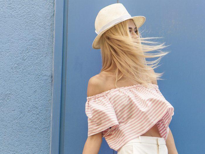 Fine Hair, blonde woman
