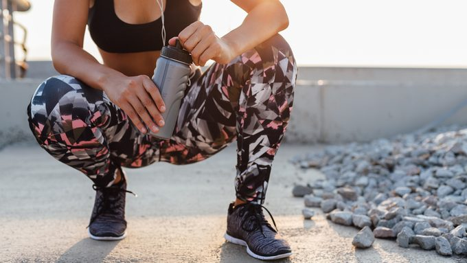 woman in workout clothing, fitness