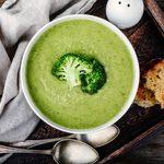 Broccoli, Cauliflower and Leek Soup