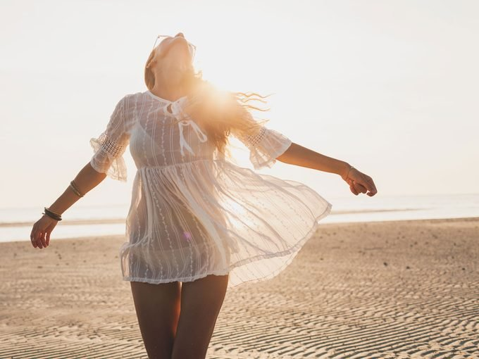 How to Find Happiness, woman on the beach