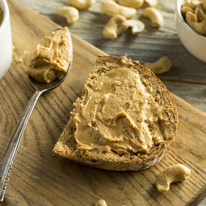 Homemade Cashew Peanut Butter Ready to Eat