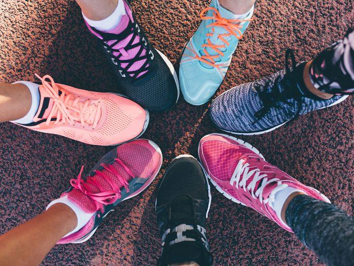 women running friends