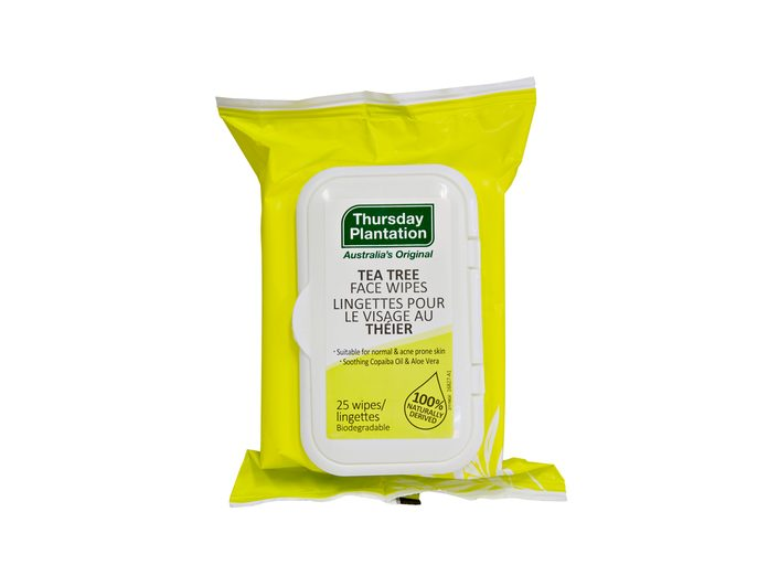 Thursday Plantation wipes