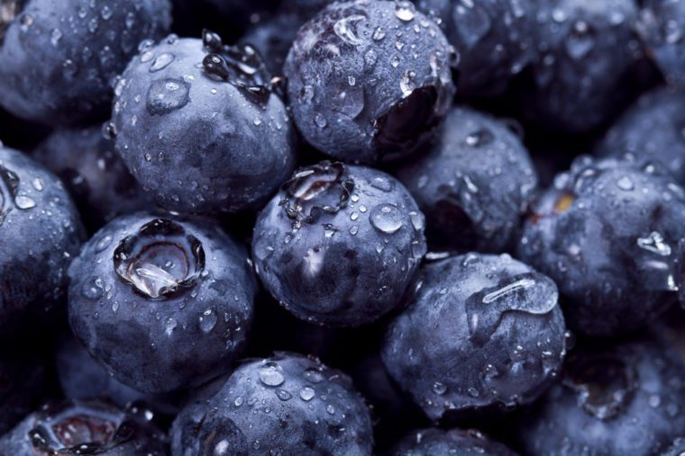Closeup of fresh blueberries. fruit full of vitamin C