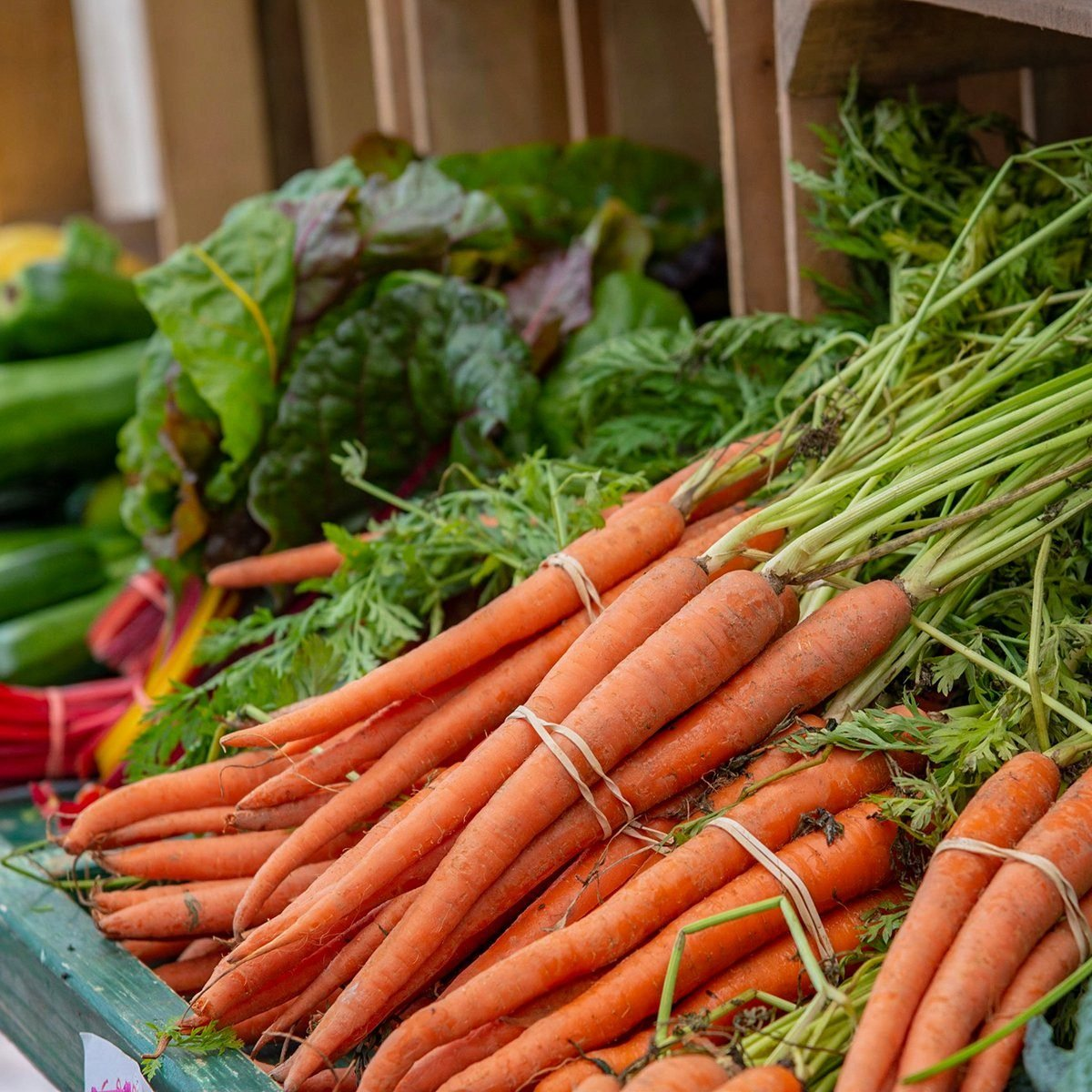 Beautifully carrots in a farmer market; Shutterstock ID 1135238870; Job (TFH, TOH, RD, BNB, CWM, CM): TOH