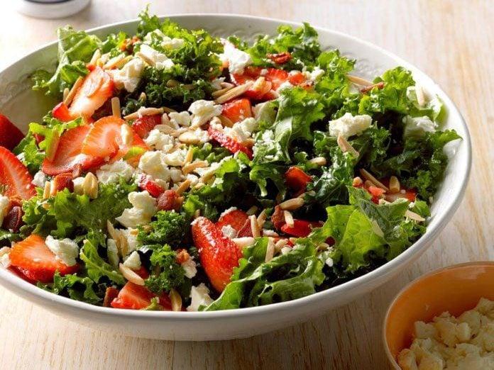 kale salad | strawberry recipes