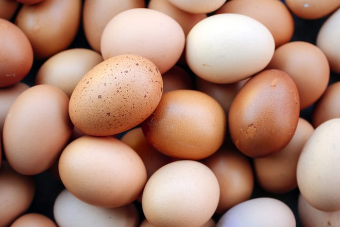 pile of brown chicken eggs
