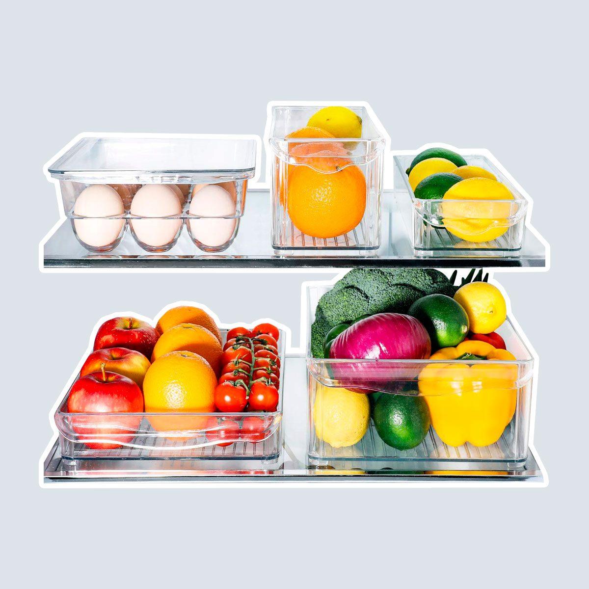 E-Gtong Fridge and Freezer Bins with Handles