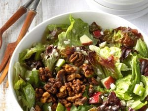 This Easy Apple-Walnut Tossed Salad Is a Quintessential Fall Starter