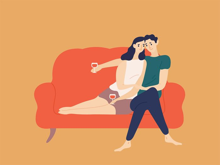 date night on couch