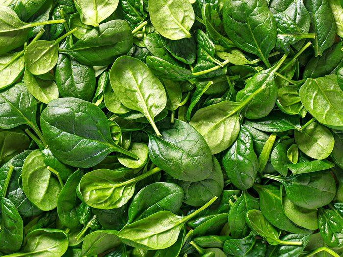 Atkins diet - spinach