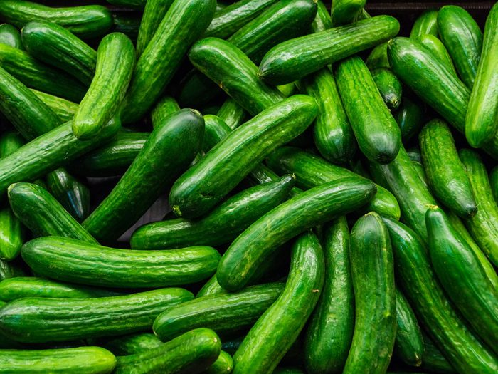 Atkins diet - cucumbers