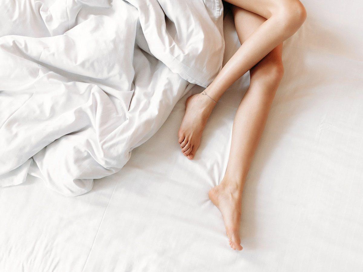 sleeping naked - legs