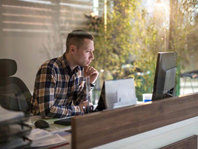 flu season - man at desk