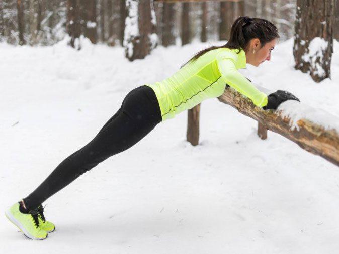 flu season - woman working out