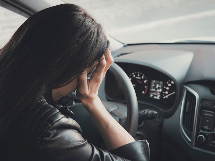 genetics - woman driving