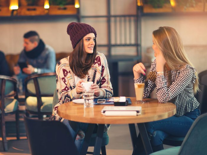 naturally charming people - friends having coffee