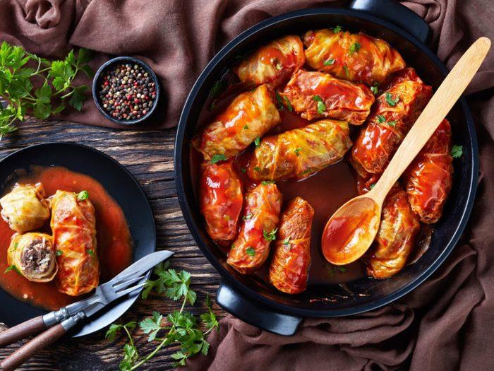 Healthy Weeknight Dinner Recipe | Quinoa Cabbage Rolls