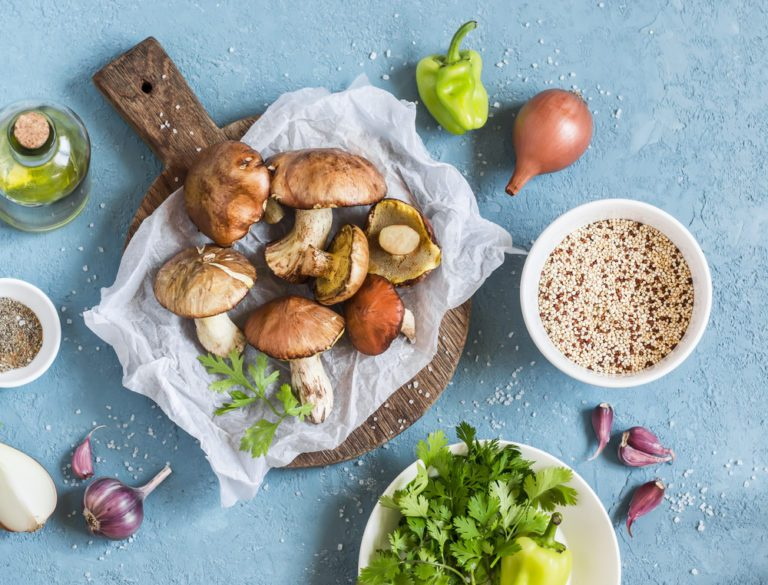 Healthy Weeknight Dinner Recipe | Mushroom and Quinoa Salad