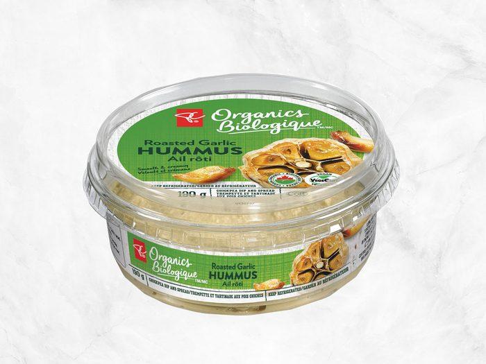 president's choice plant-based staples garlic hummus
