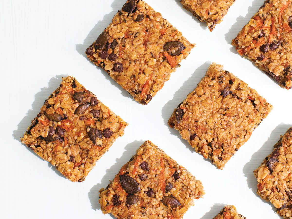 carrot tahini granola bars