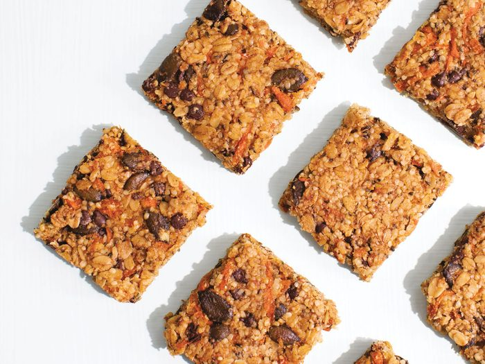 eat more veggies | granola bars