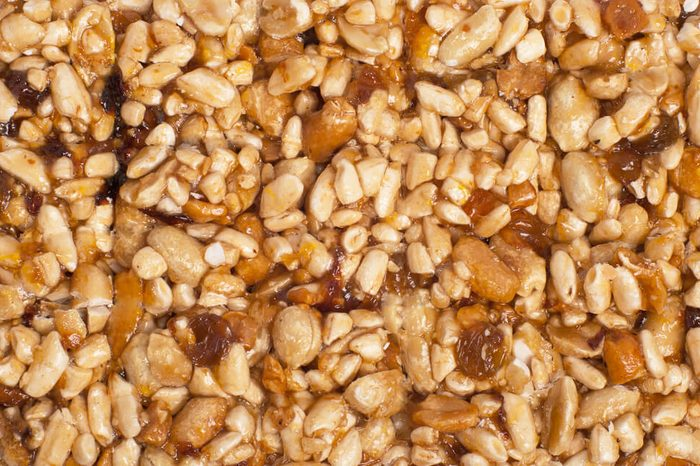 texture from nut and dry fruit