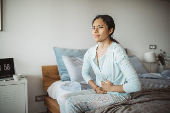 Gluten-free Diet   Celiac Disease   Gluten sensitivity   Gluten Intolerance   Woman with stomach pain
