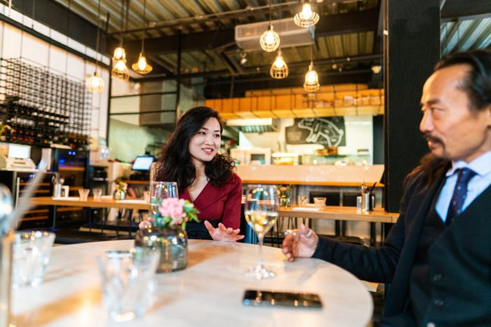 Gluten-free Diet   Celiac Disease   Gluten sensitivity   Gluten Intolerance   Man and woman talking at dinner