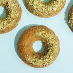 These Pistachio and Cardamom Doughnuts with Rosewater Glaze Are Made With Healthy Ingredients