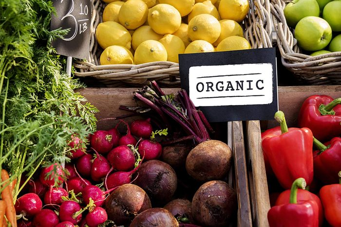 maintain a healthy weight   organic produce