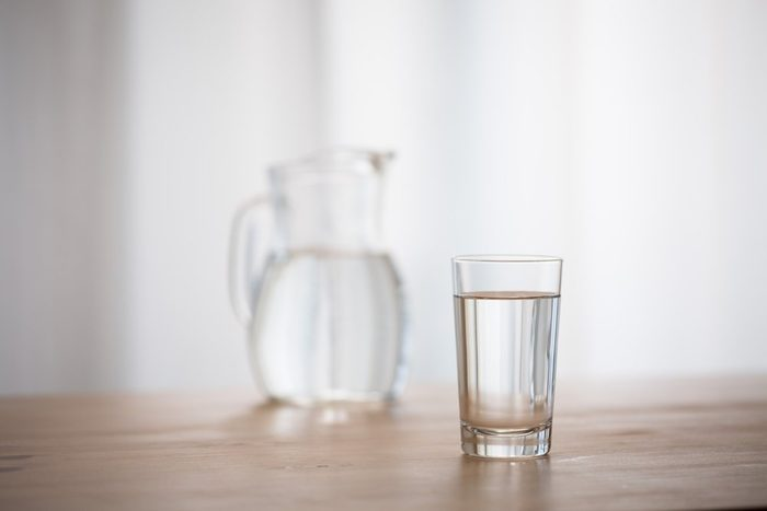 pitcher and glass of water