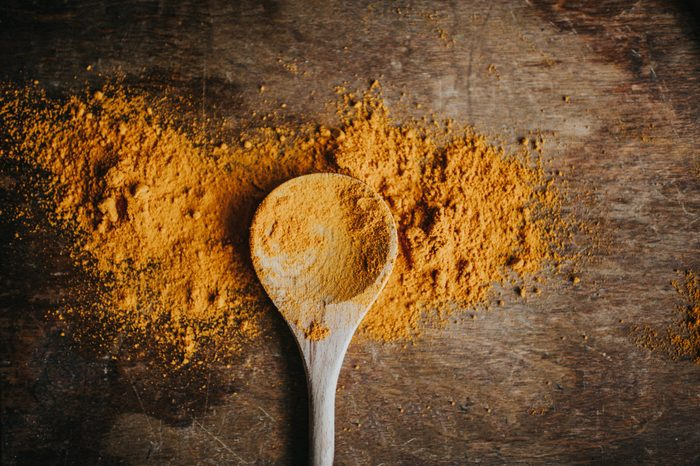 build muscle | turmeric powder overhead