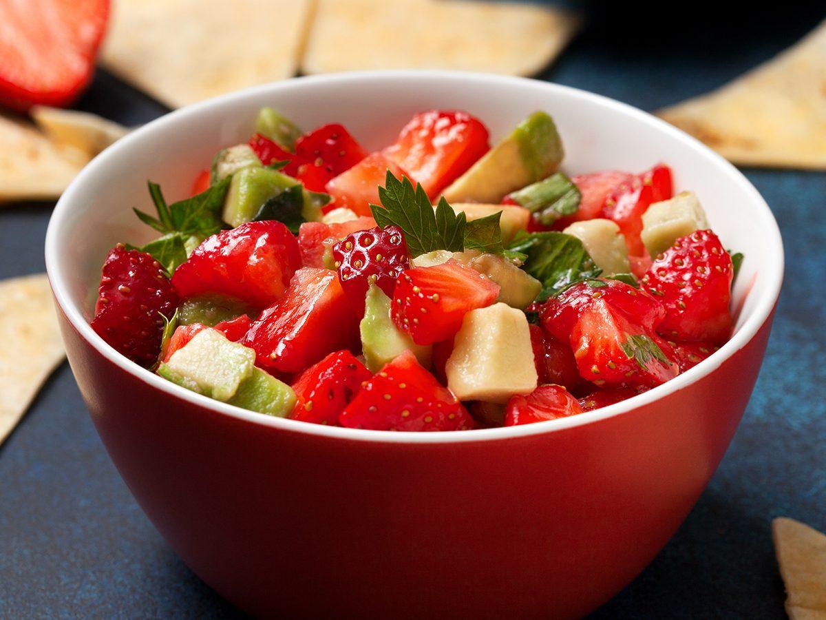 strawberry recipes | strawberry salsa | ginger salmon