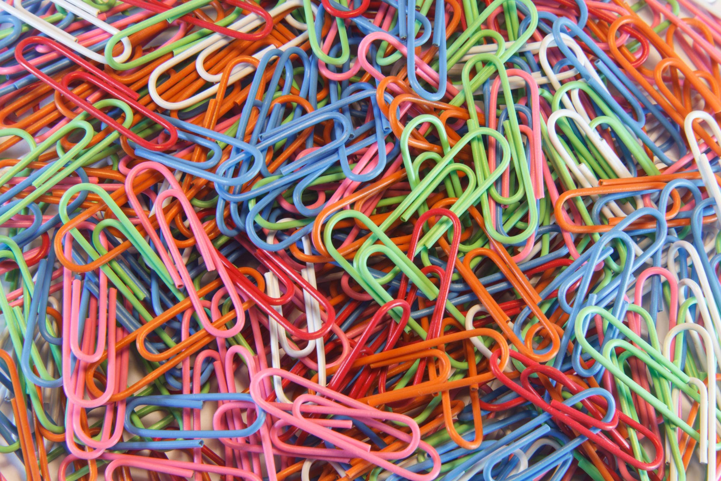 things that wreck your teeth   colourful paper clips