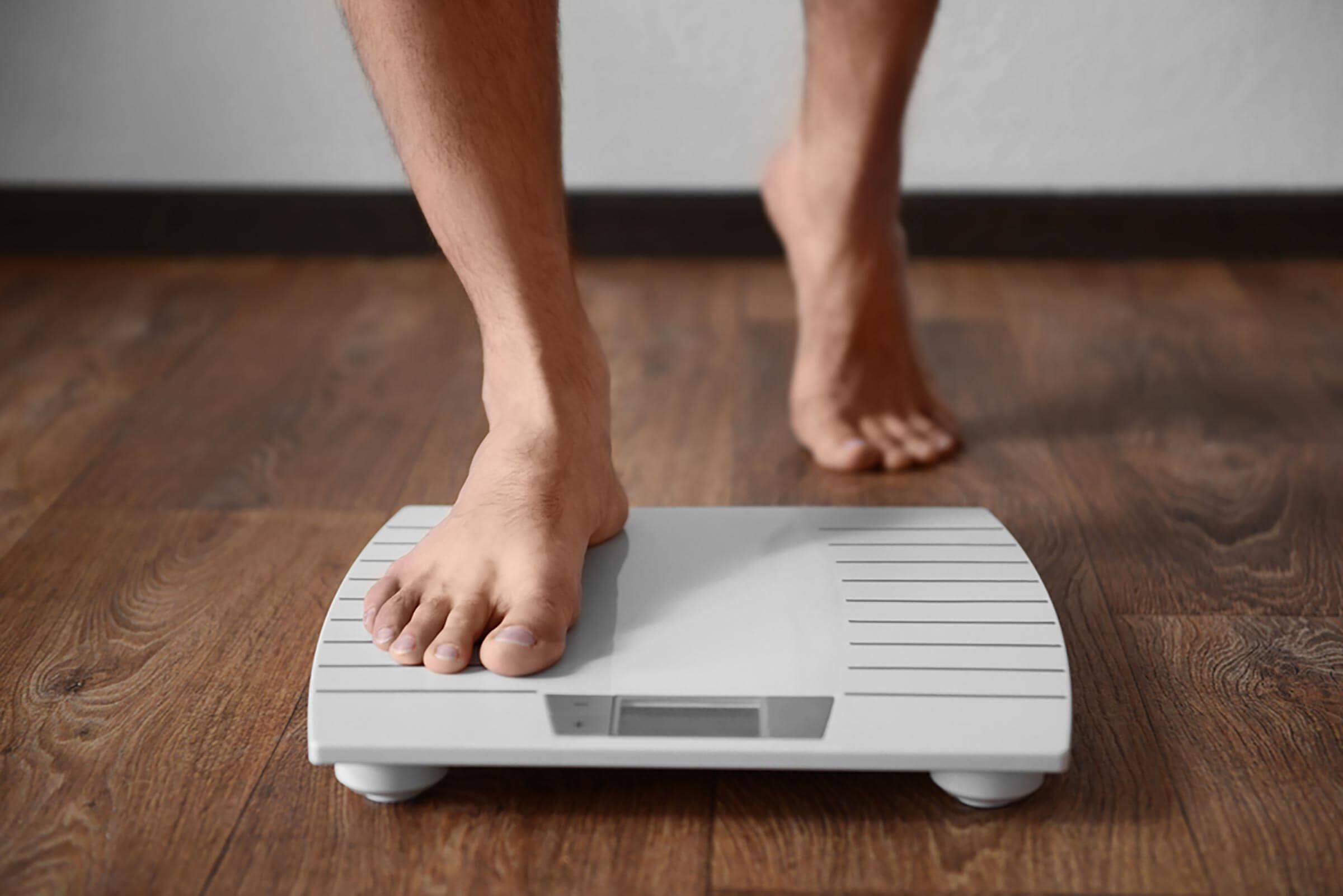 flaxseeds | person stepping onto scale