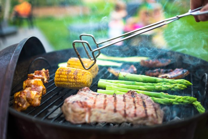 healthier grilling | grilling meat and vegetables